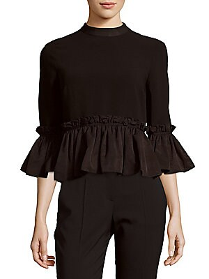 Solid Ruffled Top