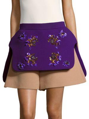 Embellished Wool Shorts Delpozo
