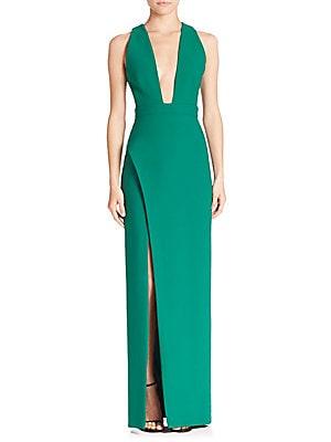 Phoenix Deep V-Neck Gown