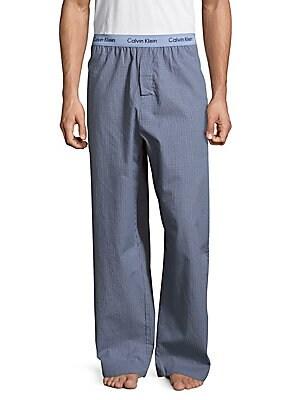 Woven Plaid Pajama Pants