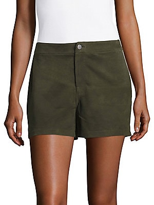Solid Suede Shorts