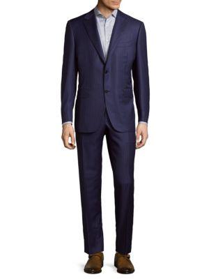 Modern Fit Pinstripe Wool Suit Canali