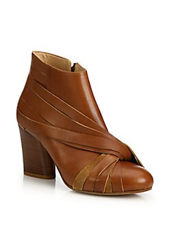 Maison Margiela - Twisted Leather Stacked-Heel Booties