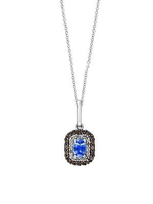 Click here for Sapphire  Diamond  Espresso Diamond & 14K White Go... prices
