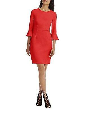 Three-Quarter Sleeve Sheath Dress