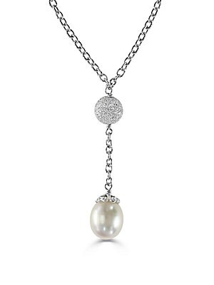 925 Sterling Silver and Cultured Freshwater Pearl Necklace
