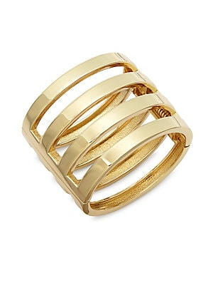 Hinge-Bar Cuff Bracelet