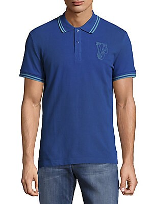 Logo-Print Cotton Polo
