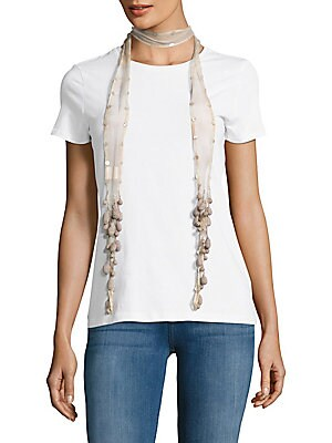 Sequin Embellished Tie-Dyed Scarf