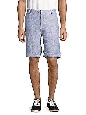 Austin Striped Linen Shorts