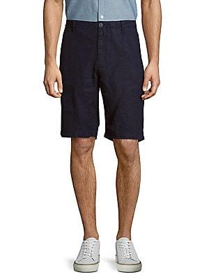Austin Solid Linen Shorts