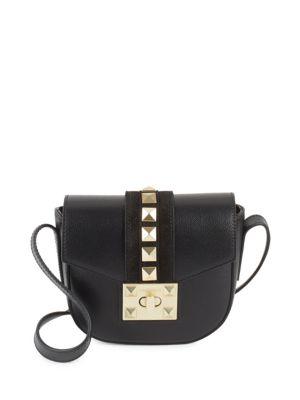 Studded Leather Saddle Bag