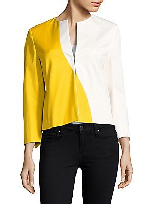 Split-V Colorblock Jacket