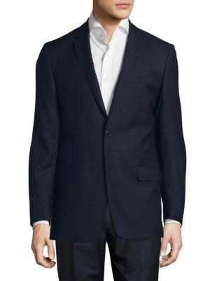 VERSACE WOOL TWO-BUTTON SPORT COAT, BLACK