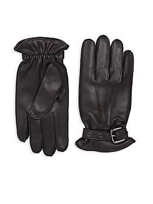 COLLECTION Buckled Leather Gloves