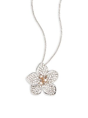 Click here for Diamond & 14K White and Rose Gold Solid Fill Penda... prices