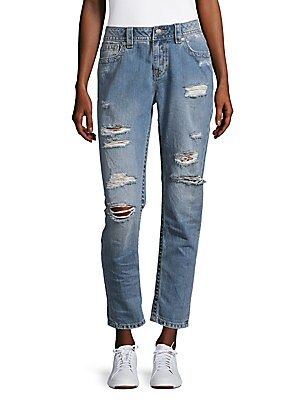 Simple Five-Pocket Cotton Ankle Jeans