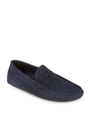 Perforated Suede Drivers Galliano