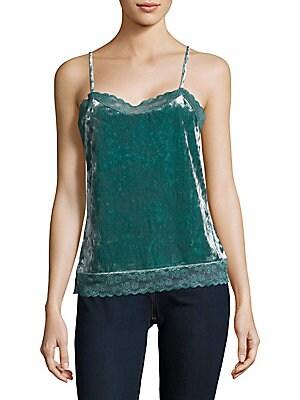 Velvet Woven Lace Camisole