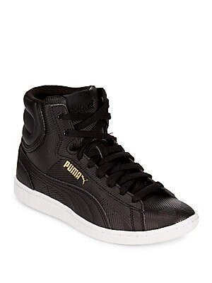 Sporty-Chic High-Top Sneakers