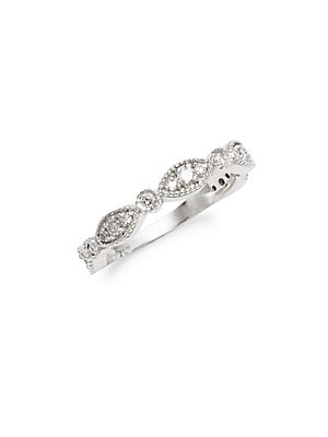 Click here for White Gold & Diamond Link Band Ring prices