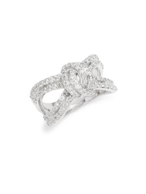 Silver Knotted Statement Ring Saks Fifth Avenue