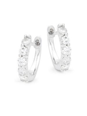 Silver Hoop Earrings/0.25 Saks Fifth Avenue