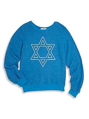 Little Girl's Star Graphic Sweatshirt