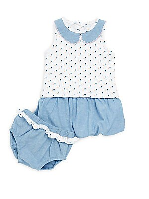 Baby's Julian Cotton Dress and Bloomers Set