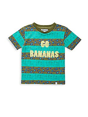 Little Boy's & Boy's Cotton Hunter Go Banana Top