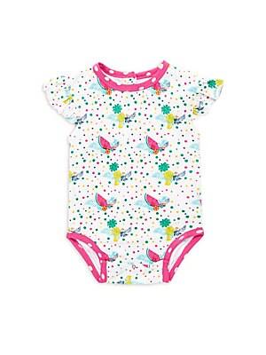 Baby's Fruit-Print Cotton Bodysuit