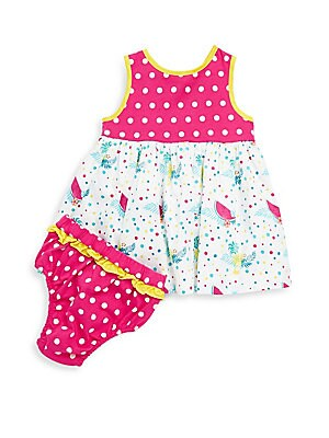 Baby's Cotton Ella Fruit Dress and Bloomers Set