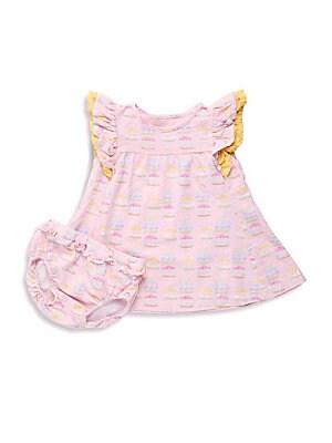 Baby's Carousel-Print Cotton Dress