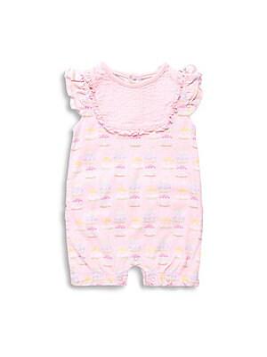 Baby's Carousel-Print Cotton Romper