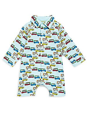 Baby's Cotton Ice Cream Graphic Coveralls