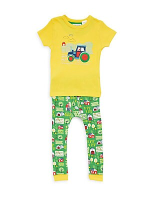 Little Boy's & Boy's Tractor Pajama Set