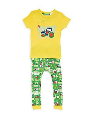 Little Boy's & Boy's Tractor Pajama Set
