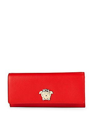 Foldover Leather Continental Wallet