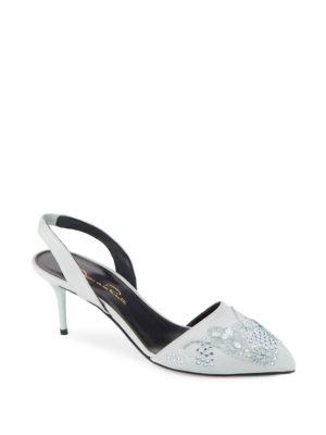 Pamie Embellished Slingback  Sandals Oscar de la Renta
