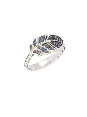 Sterling Silver Sapphire Feather Ring John Hardy