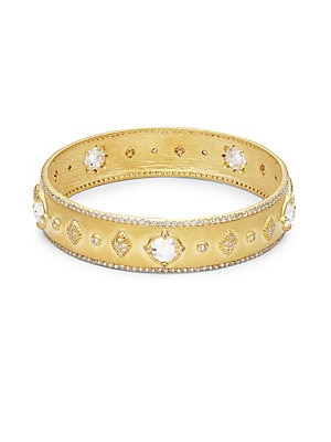 Wide Gold Plated Bangle