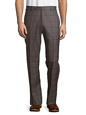 Parker Windowpane Wool Pants