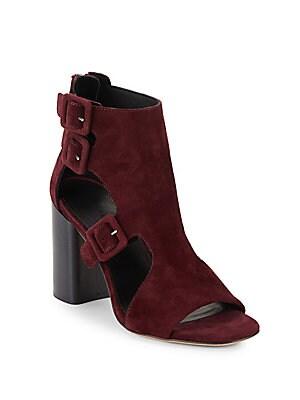 Nefer Leather Block-Heel Sandals