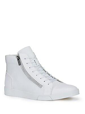 Berke Embossed Leather Sneakers