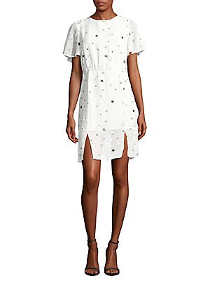 Star-Print Flare-Sleeve Dress