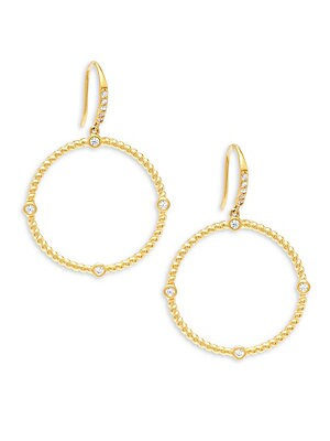Circular Roped Gold Plated Hoop Earrings/1