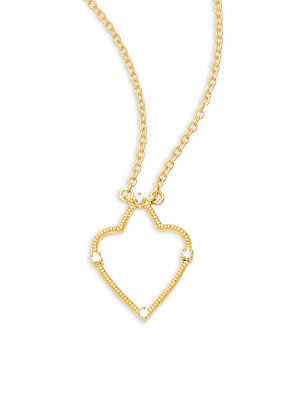 Spade Roped Gold Plated Pendant Necklace