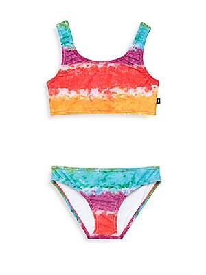 Girl's Rainbow Two-Piece Swimsuit