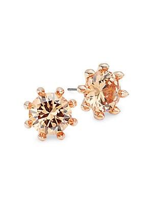 Faceted Crystal Stud Earrings