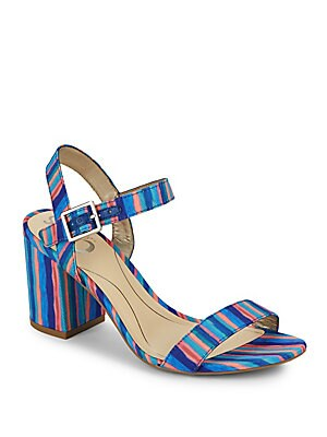 Striped Open-Toe Sandals